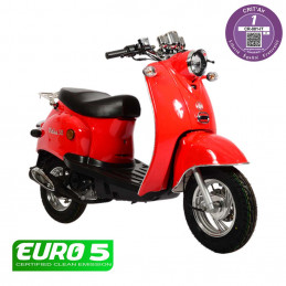 Scooter Oldies 50cc Rouge -...