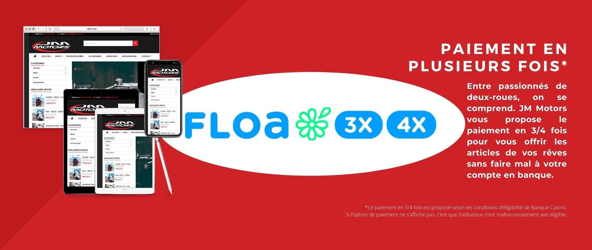 Découvrez nos paiement en 3 ou 4 fois avec FloaBank